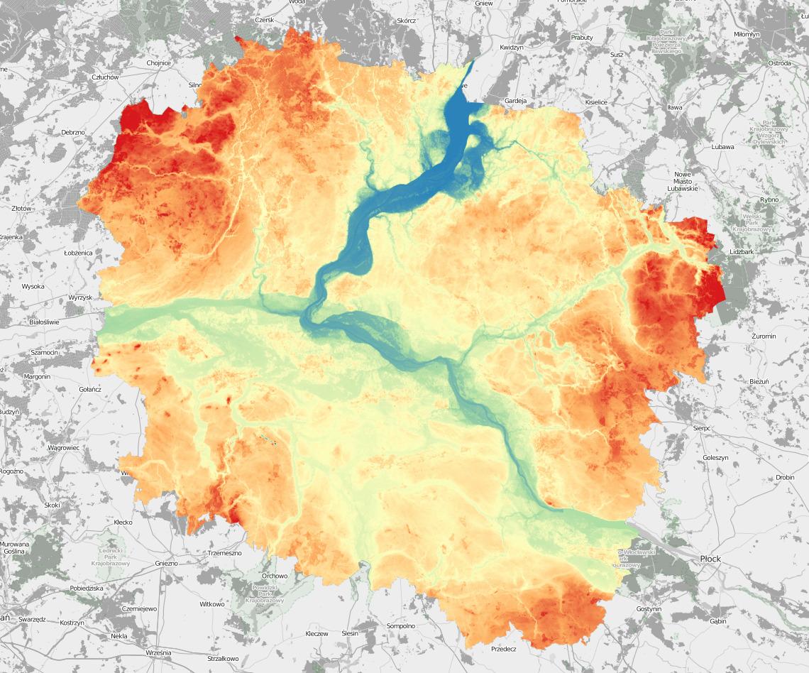 Kujawsko Pomorskie Mapa Fizyczna Marcin Wasilewski
