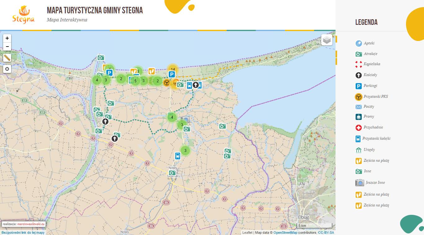 Stegna Interaktywna Mapa Marcin Wasilewski